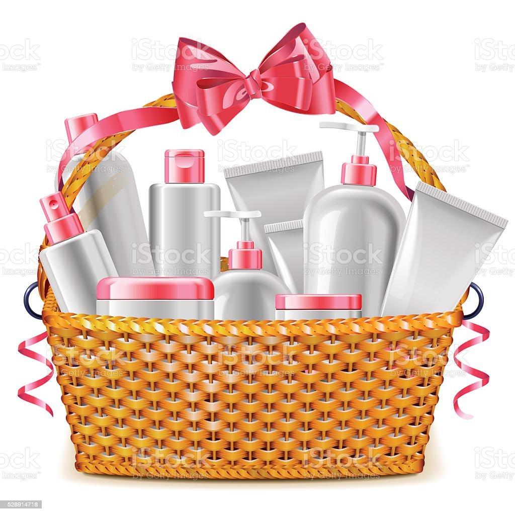 royalty free gift basket clip art vector images illustrations rh istockphoto com gift basket raffle clipart gift basket clip art free