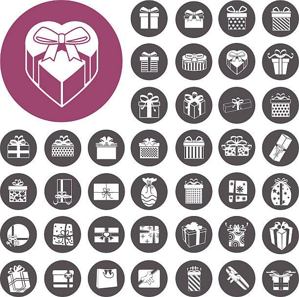 Vektor Geschenk box-Symbole set.  Illustration eps10 – Vektorgrafik