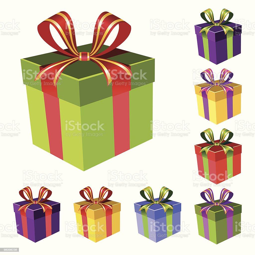 set regalo vettoriale set regalo vettoriale - immagini vettoriali stock e altre immagini di anniversario royalty-free