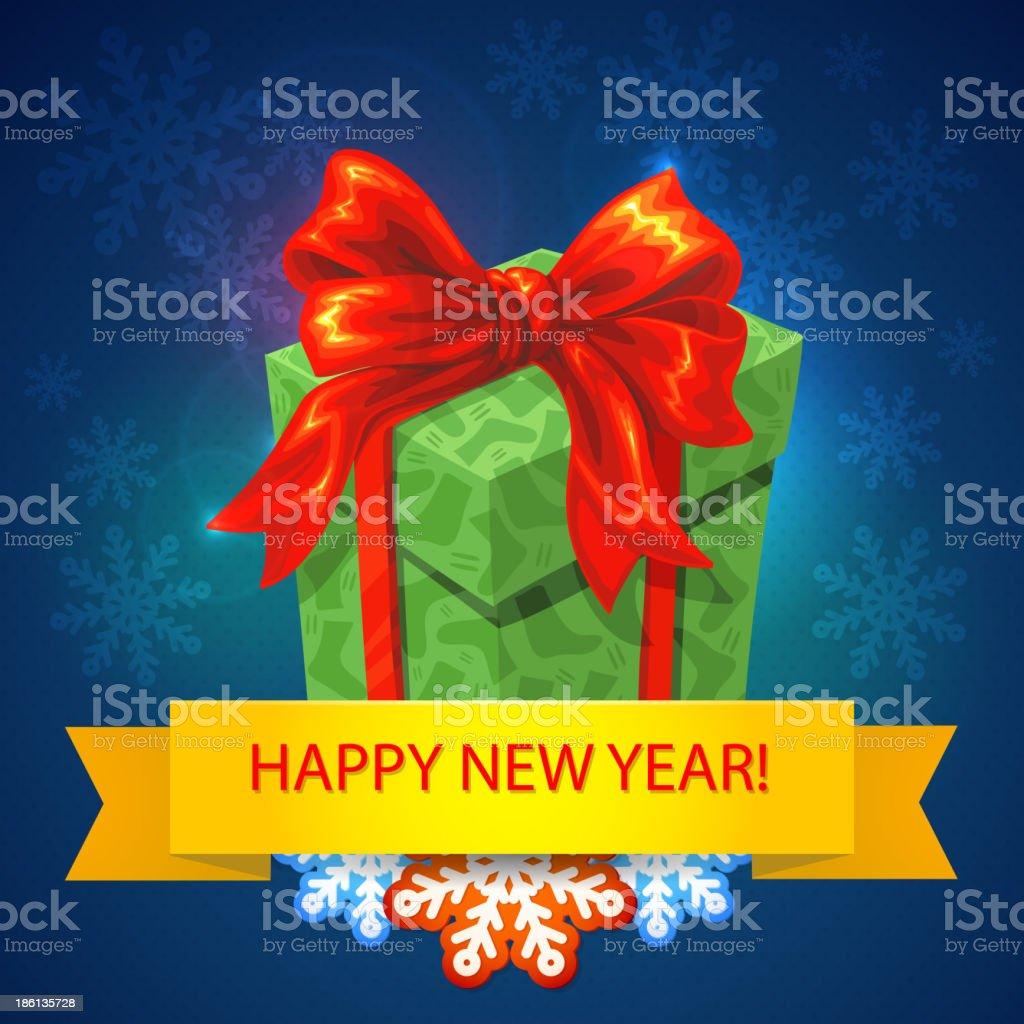 vector gift box with bows and ribbons. Holiday present. royalty-free stock vector art