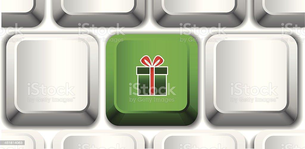Vector gift button royalty-free stock vector art