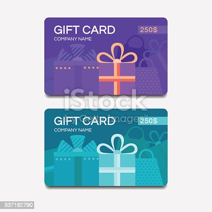 istock Vector gift cards 537182790