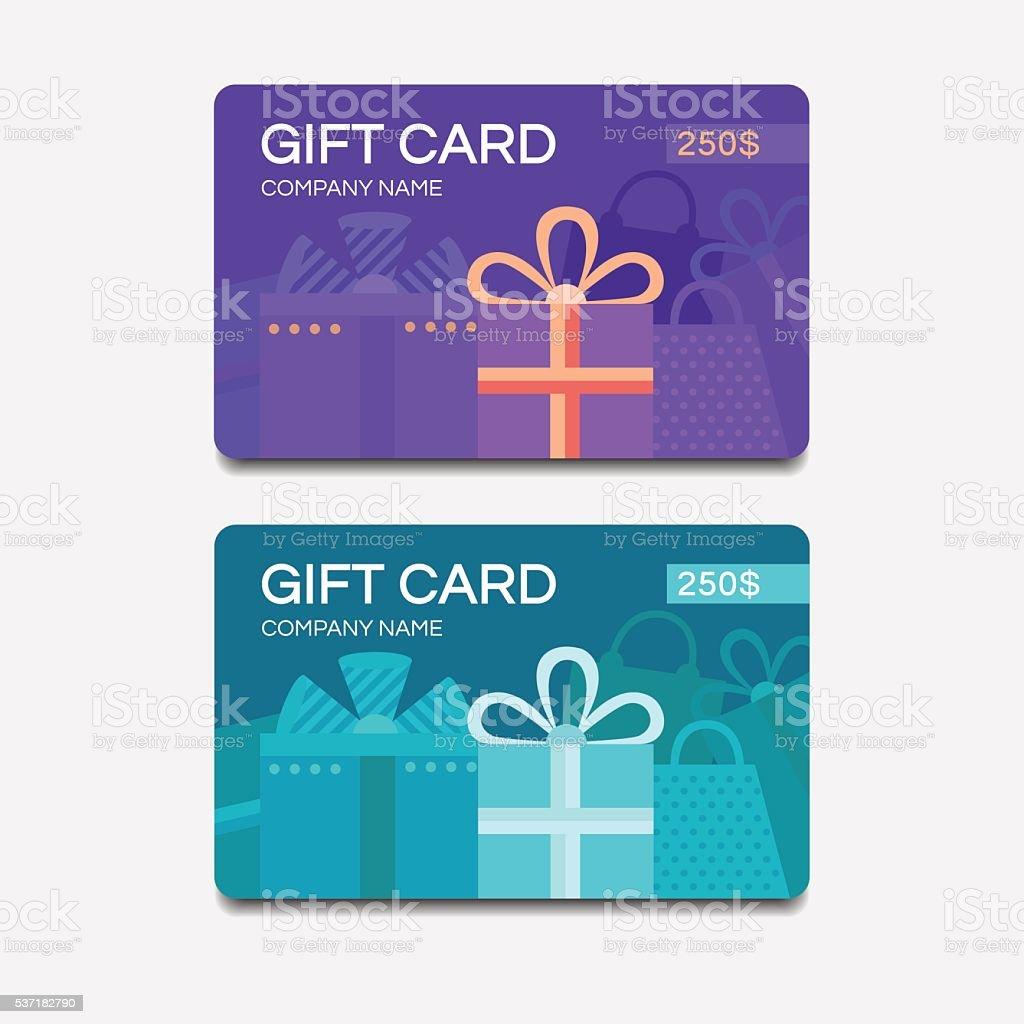 Vecteur des cartes-cadeaux - Illustration vectorielle