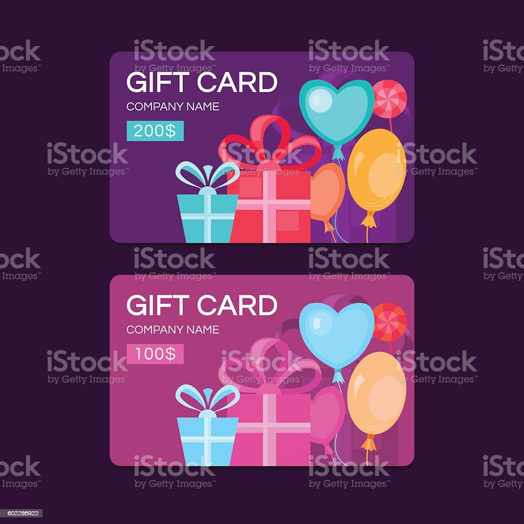 Vector gift cards. - Illustration vectorielle