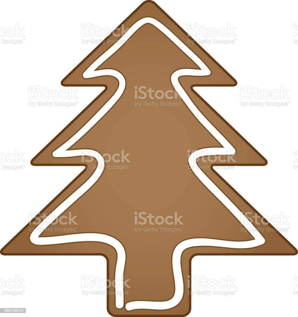 벡터 진저 크리스마스 트리 royalty-free 벡터 진저 크리스마스 트리 0명에 대한 스톡 벡터 아트 및 기타 이미지