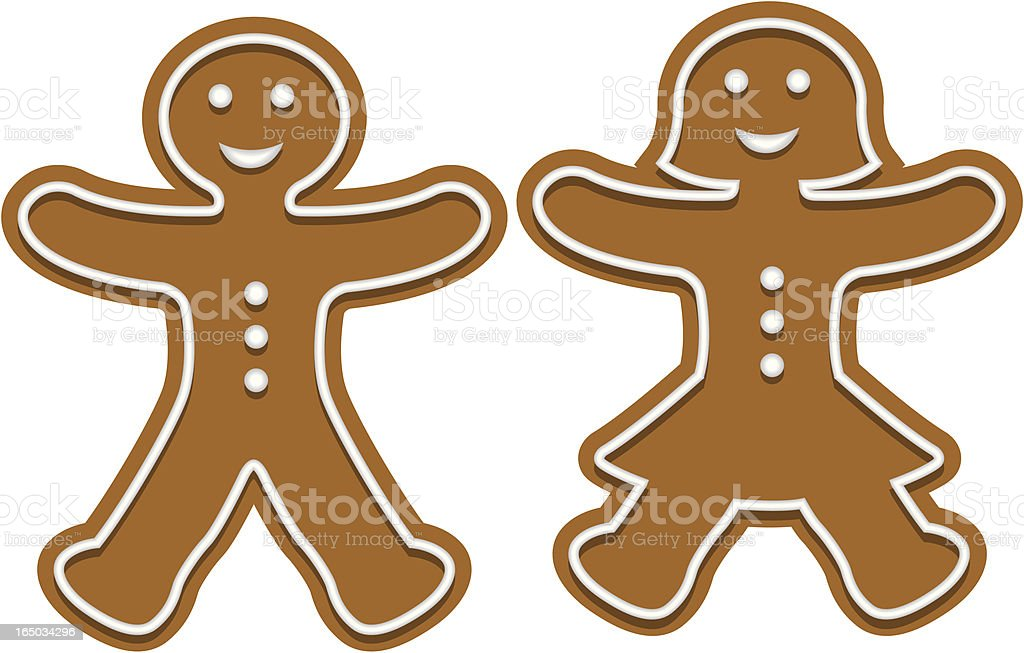 Vector Gingerbread Man and Woman royalty-free stock vector art