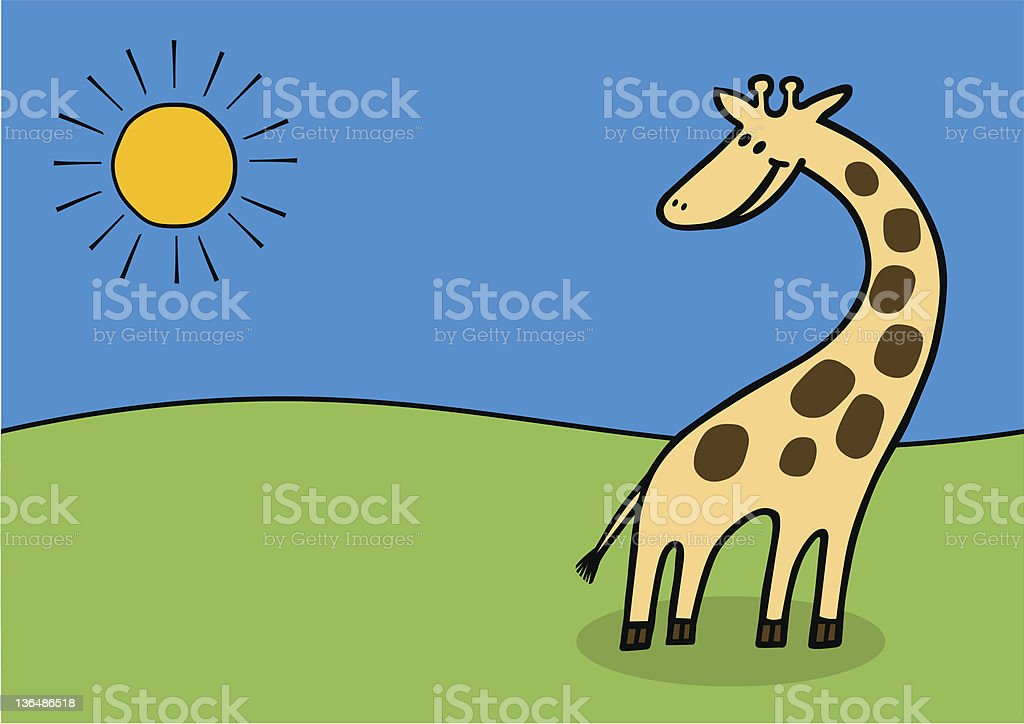 vector giraffe royalty-free stock vector art