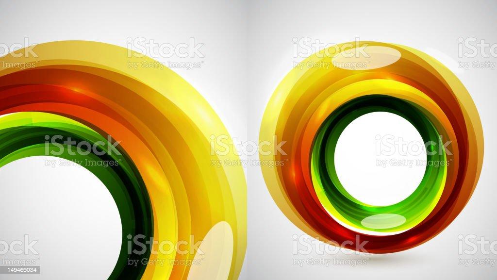 Vector glass bubbles royalty-free stock vector art