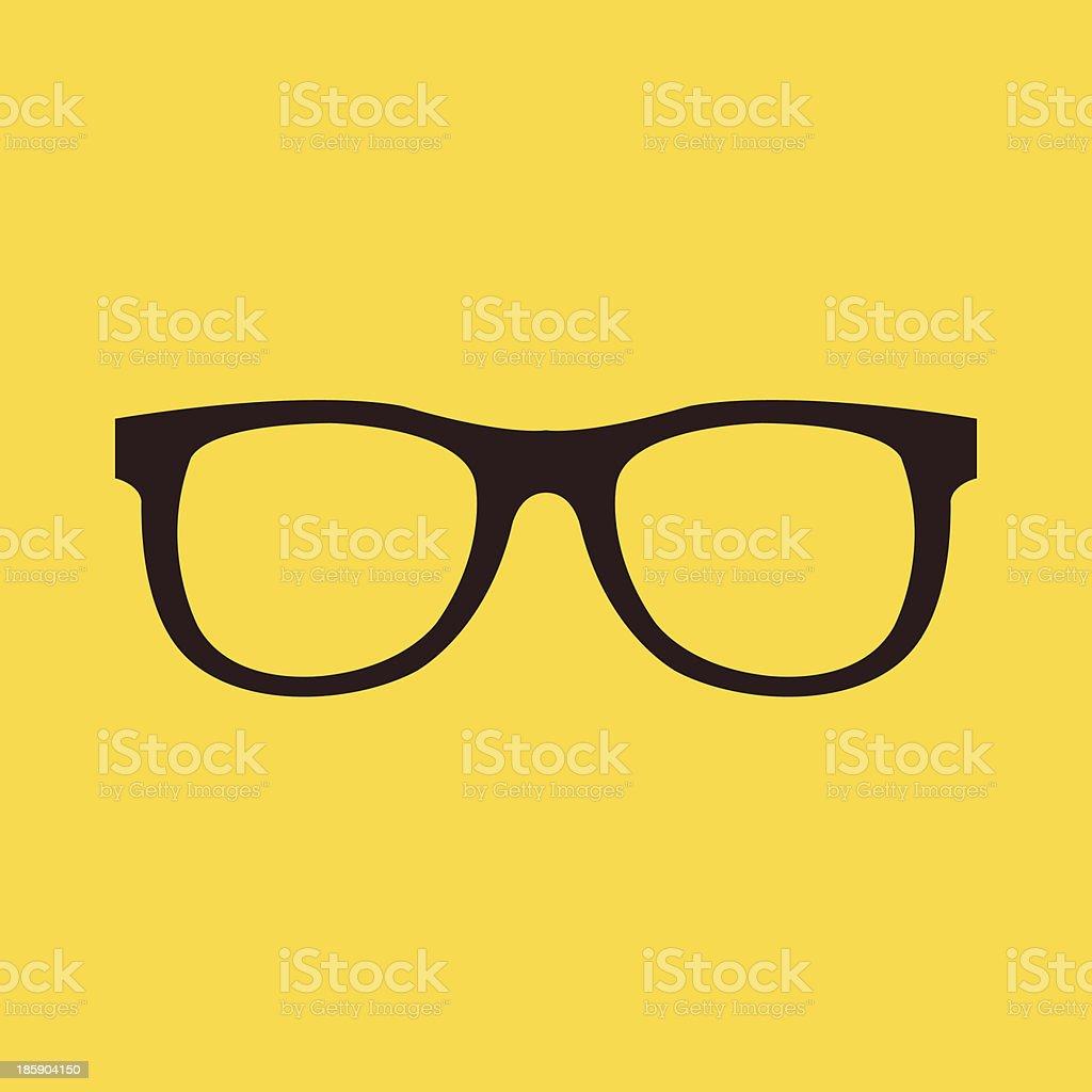 Vector Glasses Icon vector art illustration