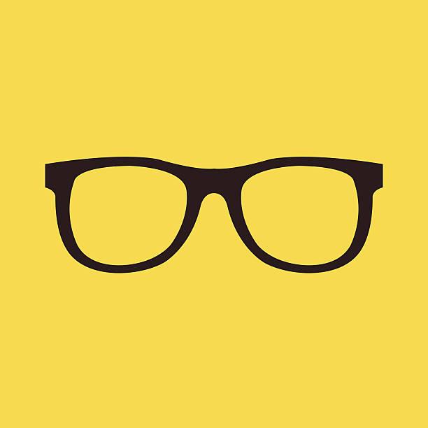vektor-gläser-symbol - nerd stock-grafiken, -clipart, -cartoons und -symbole