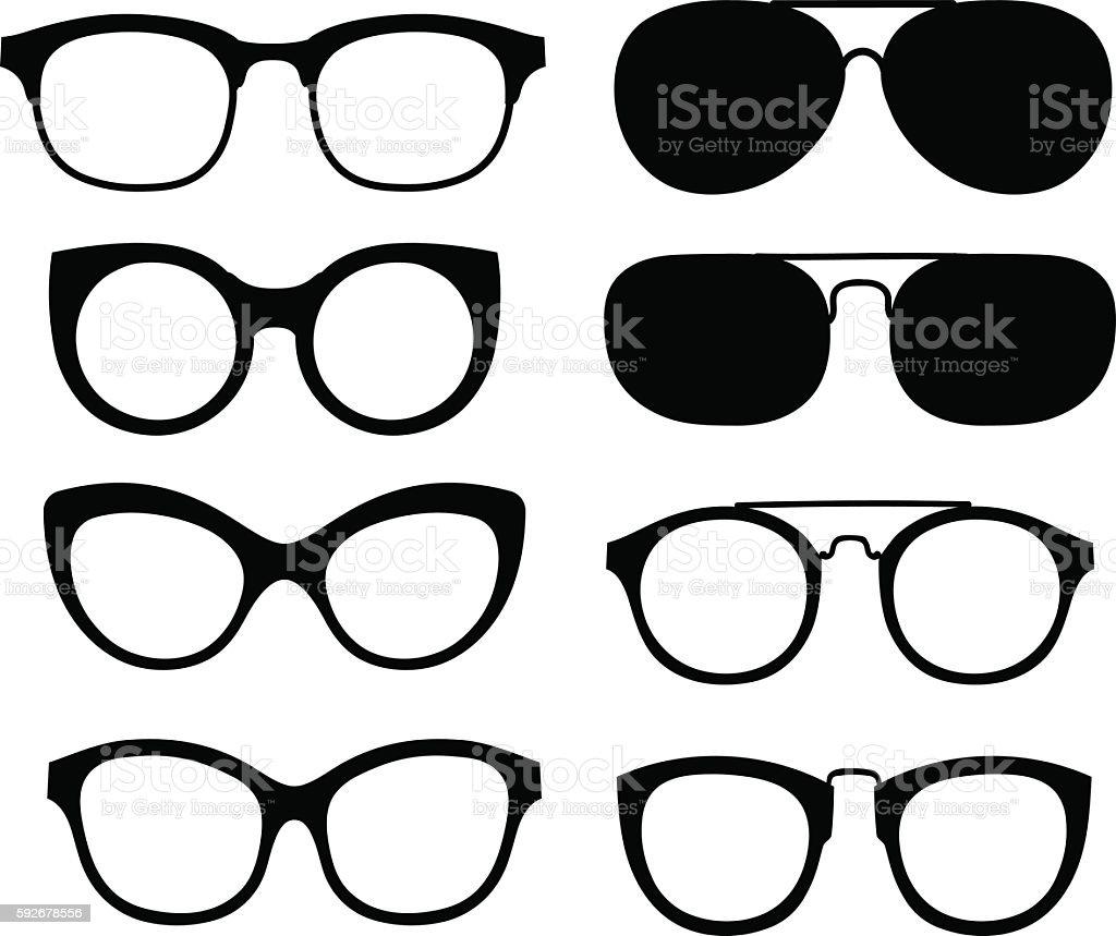 Vector glasses isolated on white background. vector art illustration