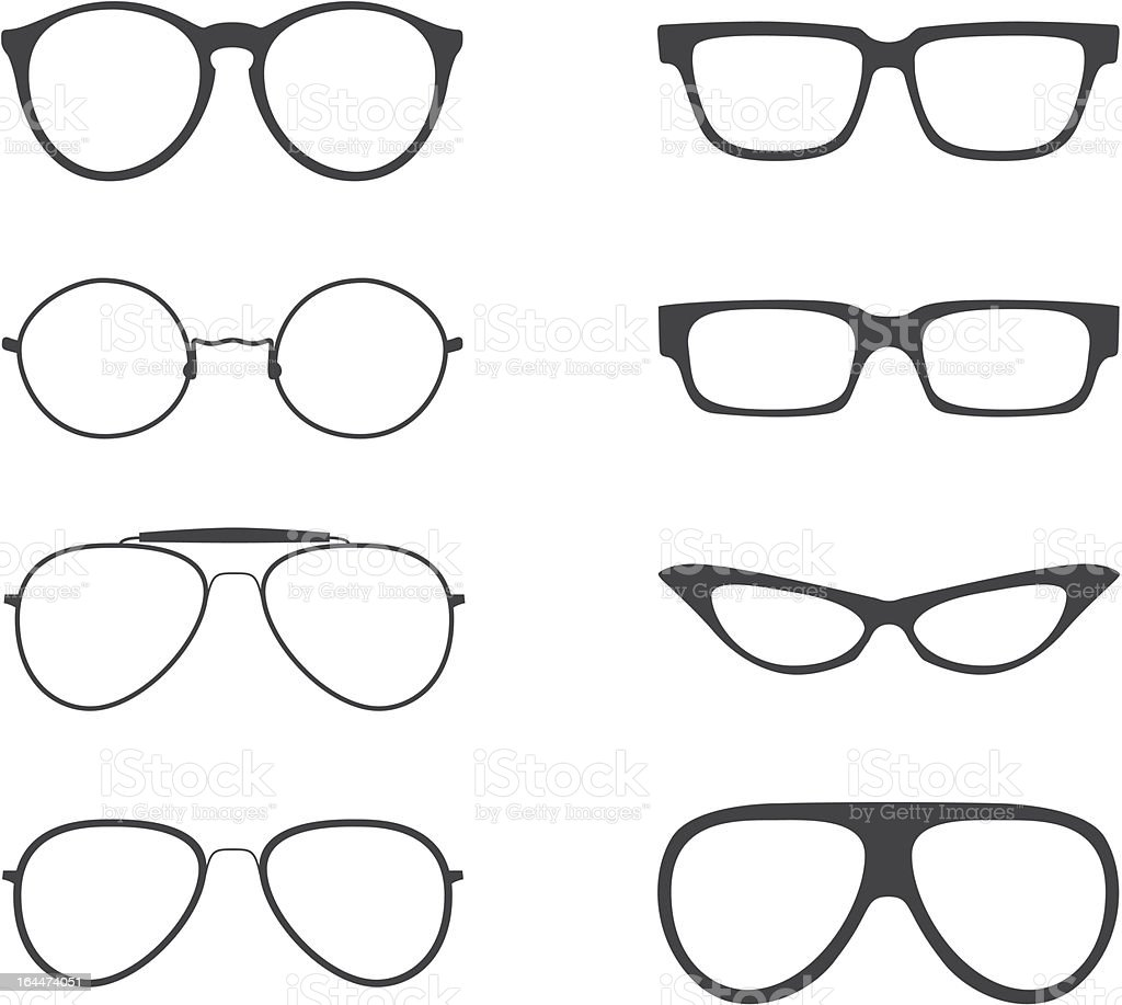 Vector Glasses Shapes Set vector art illustration