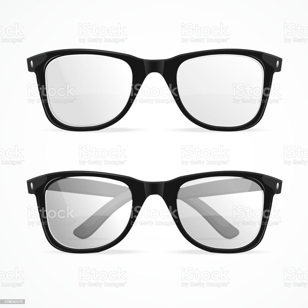 Vector glasses vector art illustration