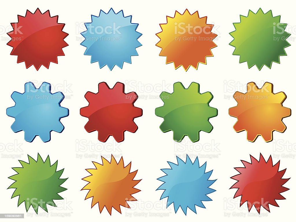 Vector glassy labels useful for promote sale royalty-free stock vector art