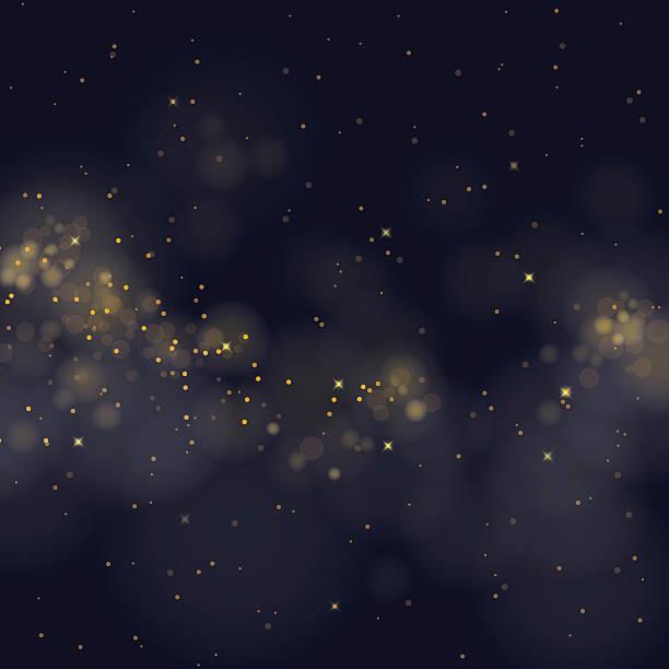 vector glittering stars on bokeh background vector art illustration