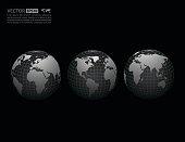 Vector globe icon .