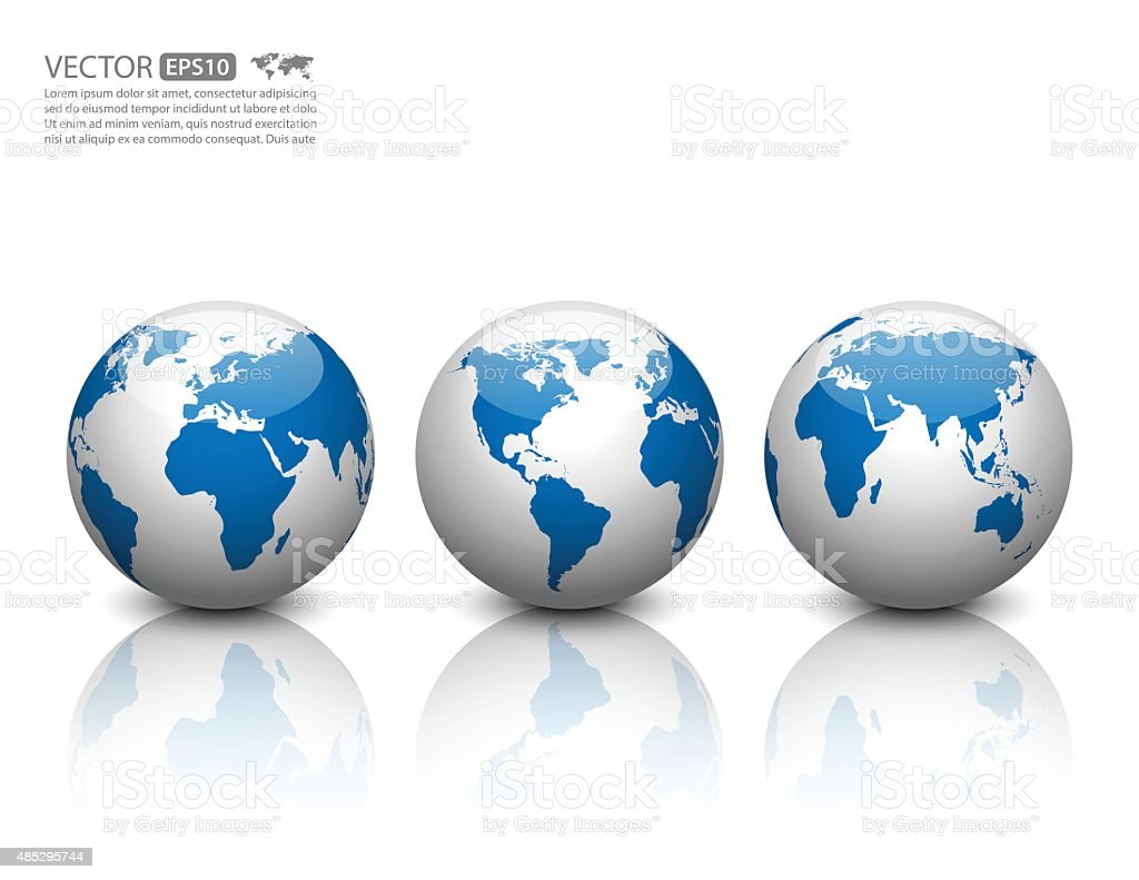 Vector globe icon. vector art illustration