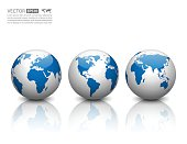 Vector globe icon.