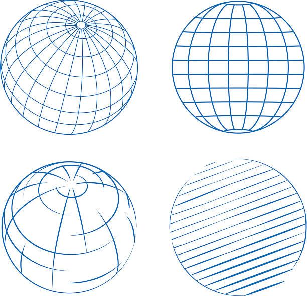 Wektor Globusy – artystyczna grafika wektorowa