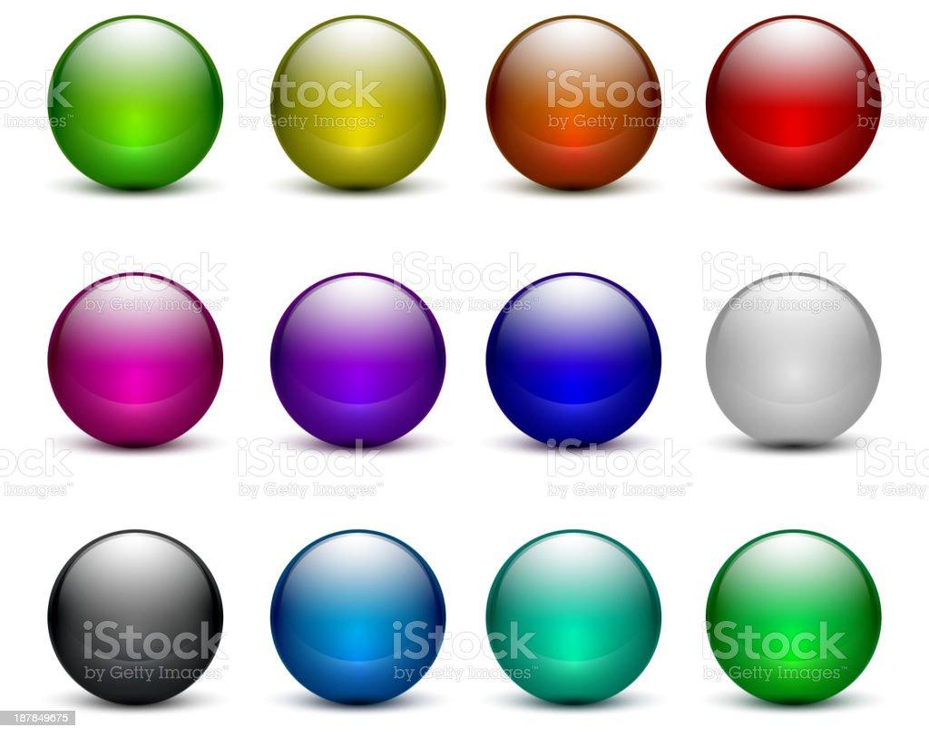 Vector glossy buttons vector art illustration
