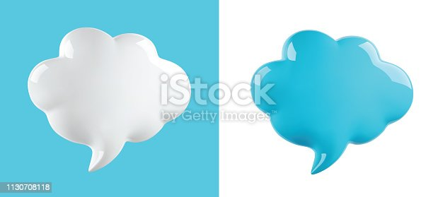 glossy cloud bubble, vector illustration