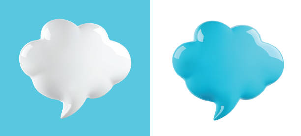 vector glossy cloud bubble glossy cloud bubble, vector illustration three dimensional stock illustrations
