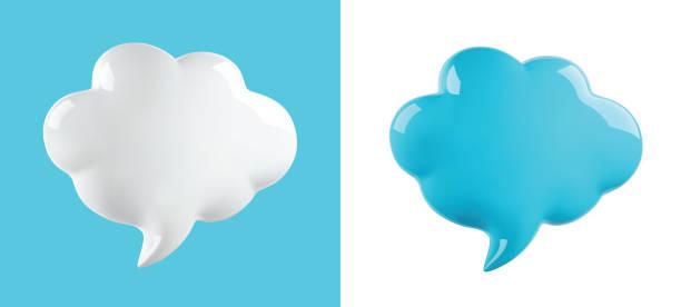 벡터 광택 구름 거품 - 입방체 stock illustrations