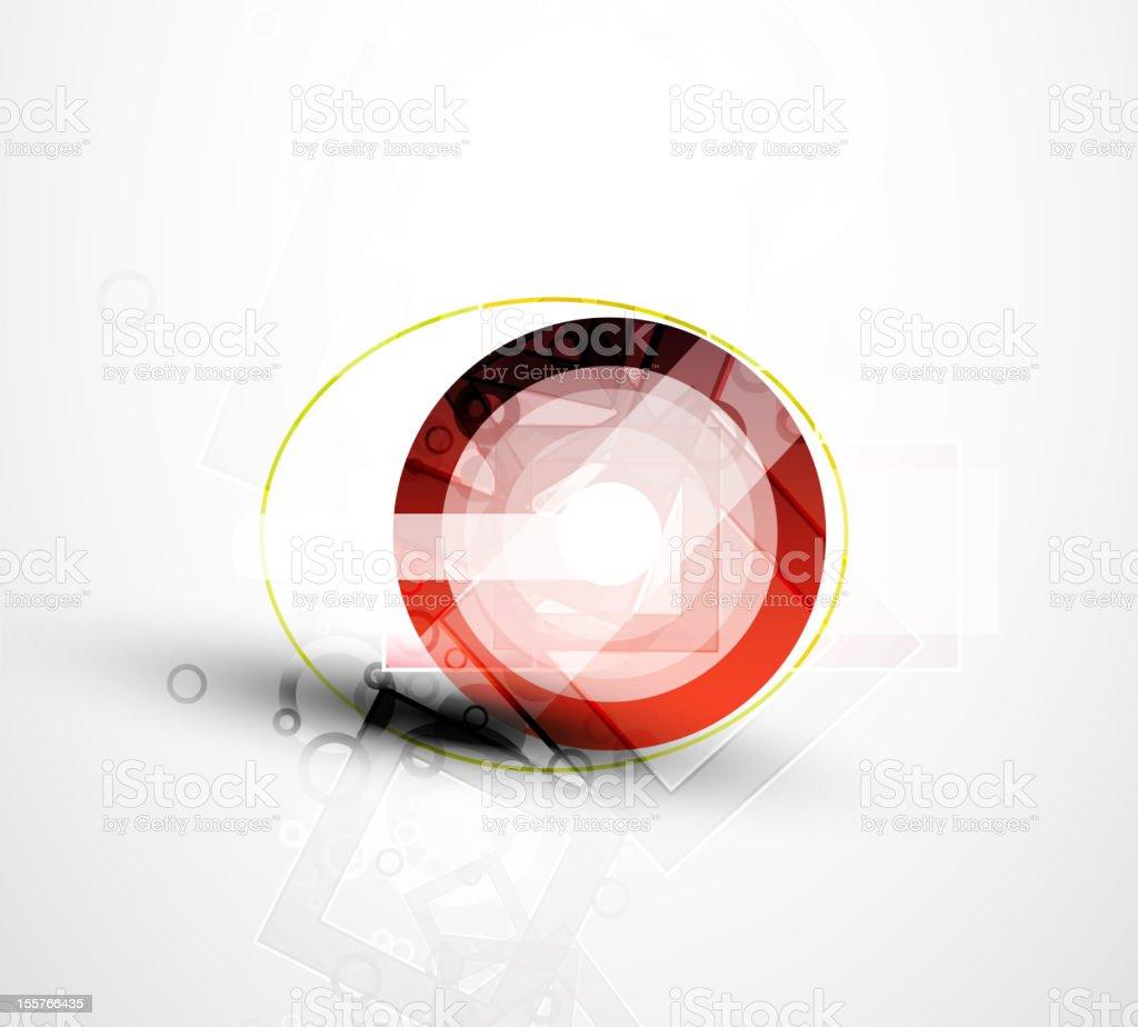 Vector glossy futuristic design royalty-free stock vector art