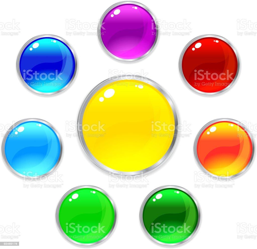 Vector glossy internet button royalty-free stock vector art