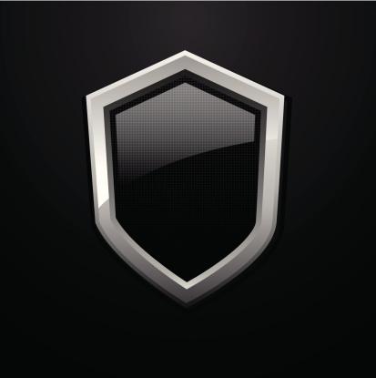 Vector glossy metal shield