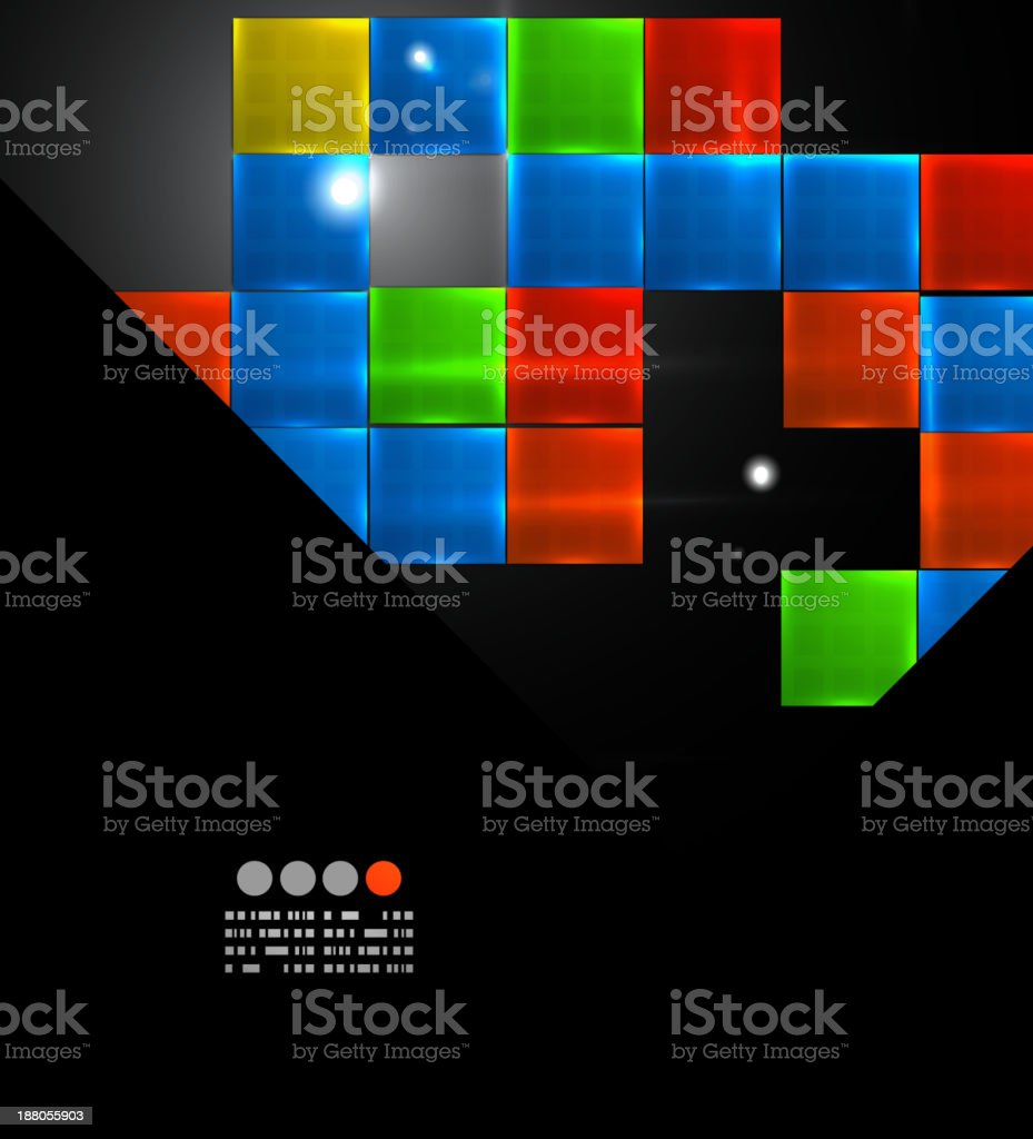 Vector glossy mosaic background royalty-free stock vector art