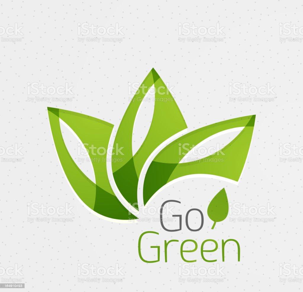 Vector go green paper background vector art illustration