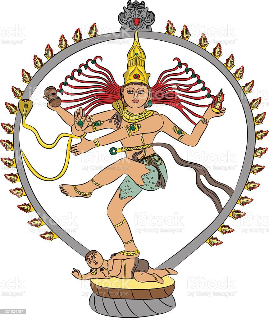 vector goddess Kali vector art illustration