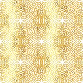 Vector gold abstract seamless patterns