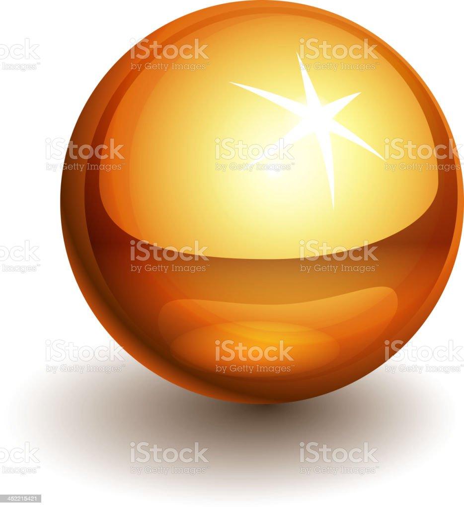 Vector oro de bola - ilustración de arte vectorial