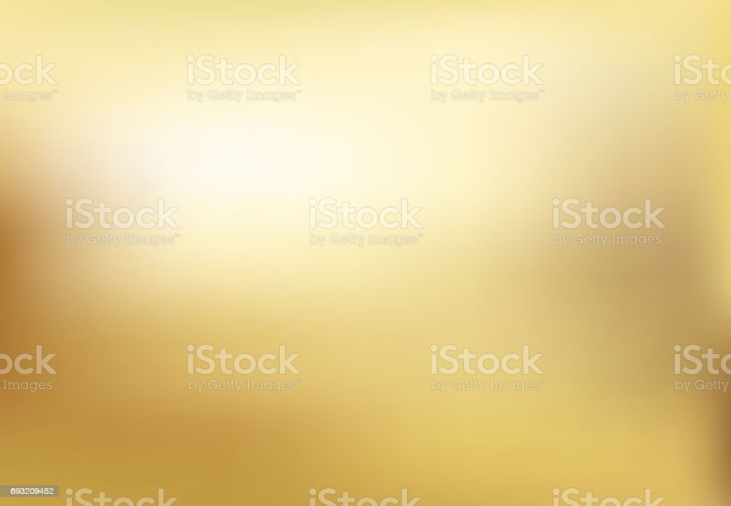 Vector gold blurred gradient style background. Abstract smooth illustration vector art illustration