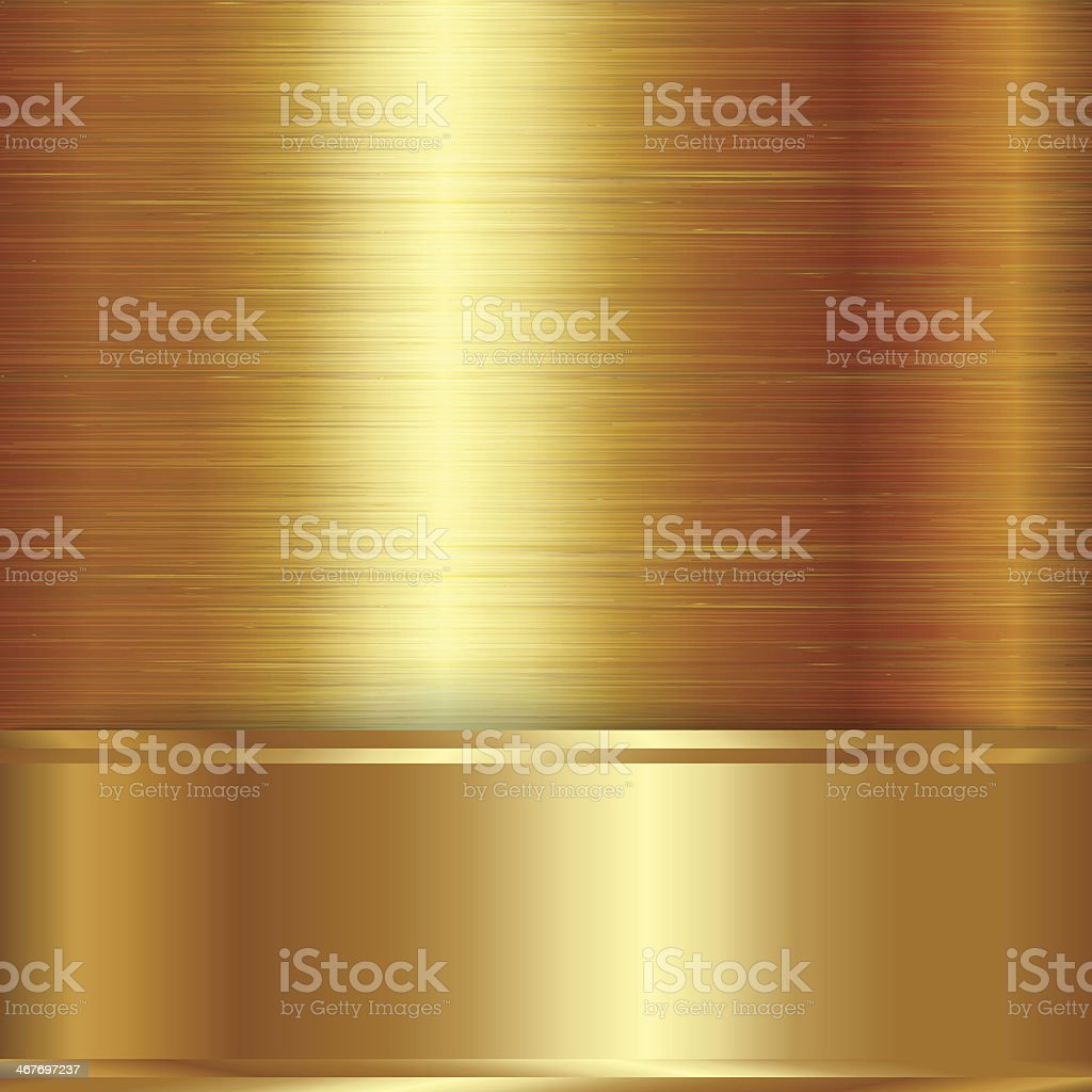 Ilustración de Vector Oro Cepillado Fondo Placa Metálica y más banco ...