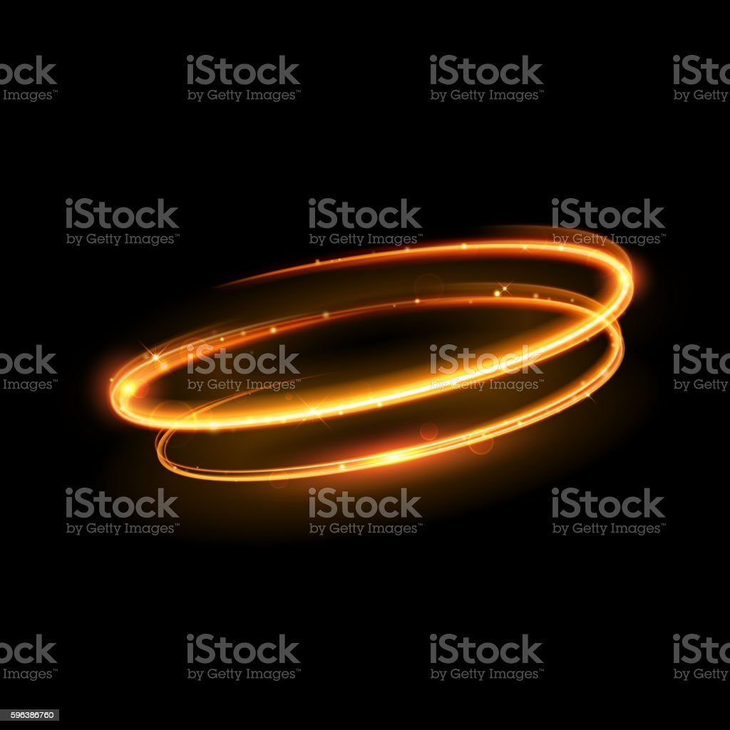 vector gold circle light tracing effect stock vector art more