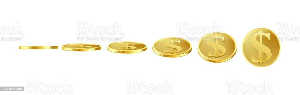 3d Vector Gold Coins Sprite For Animation Stock Vector Art More