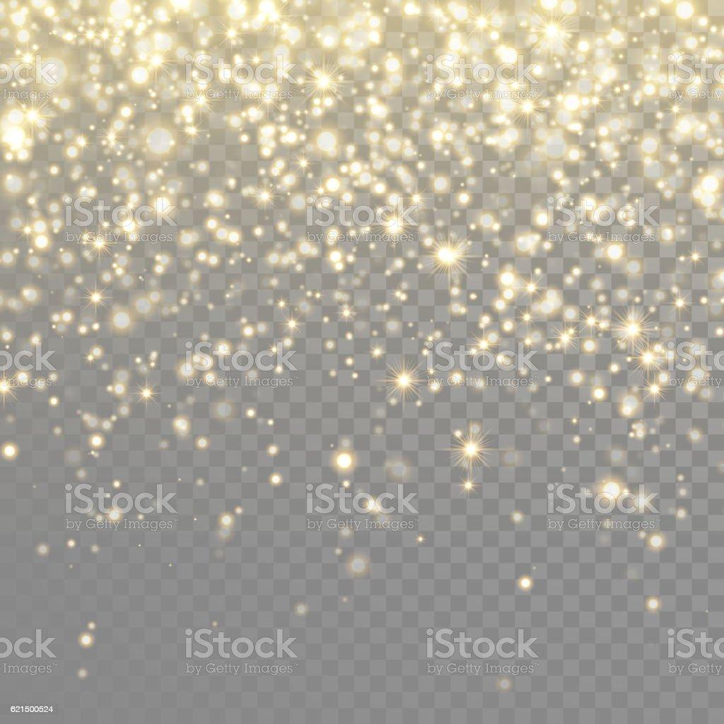 Vektor gold Glitzerpartikeln Hintergrund-Effekt Lizenzfreies vektor gold glitzerpartikeln hintergrundeffekt stock vektor art und mehr bilder von abstrakt