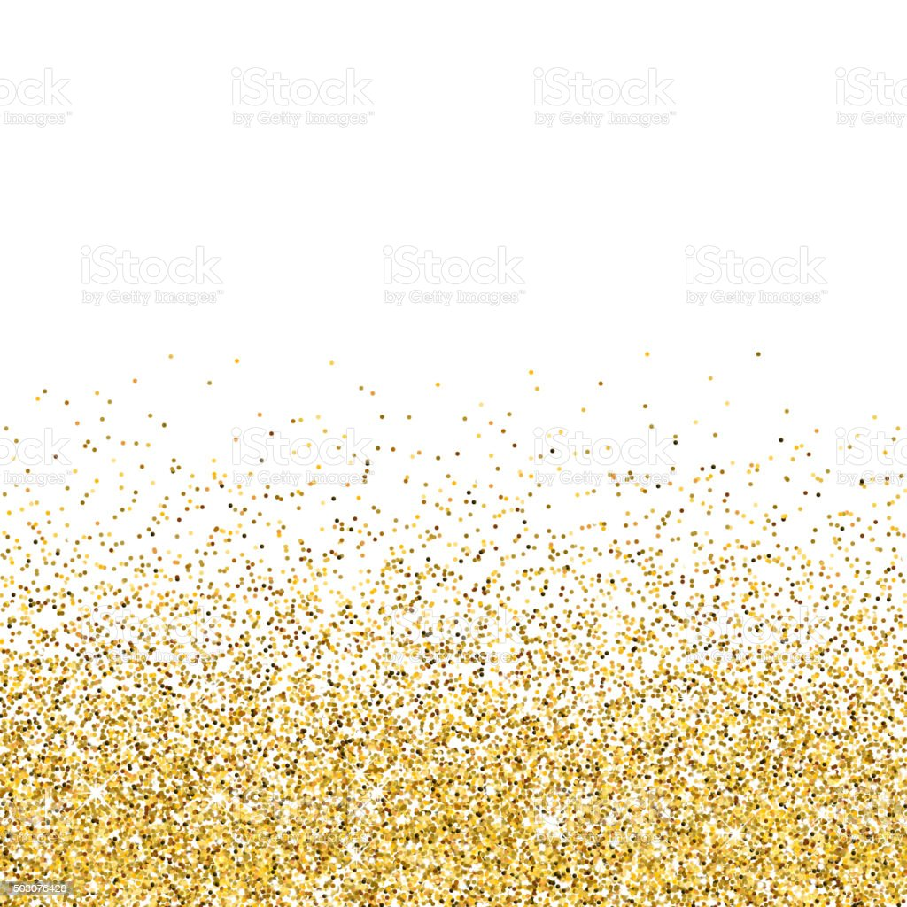 Vector gold glittering abstract particles vector art illustration