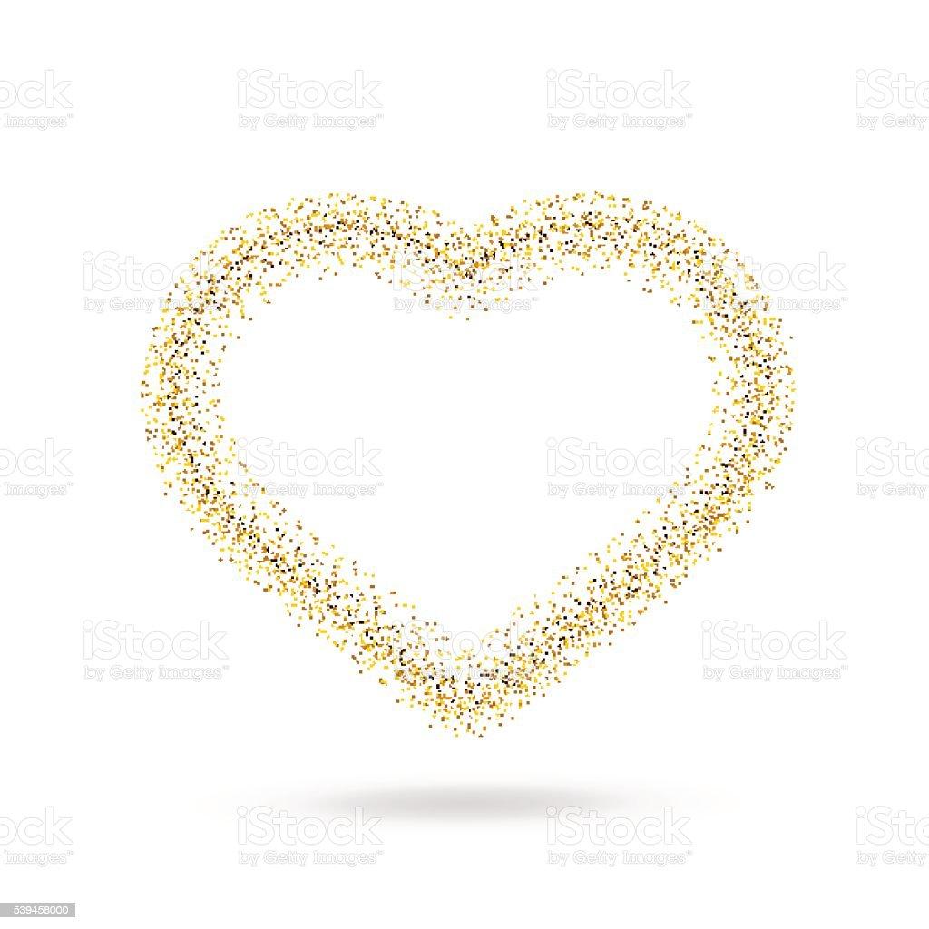 ベクトルゴールドのハートを透明背景 のイラスト素材 539458000 | istock