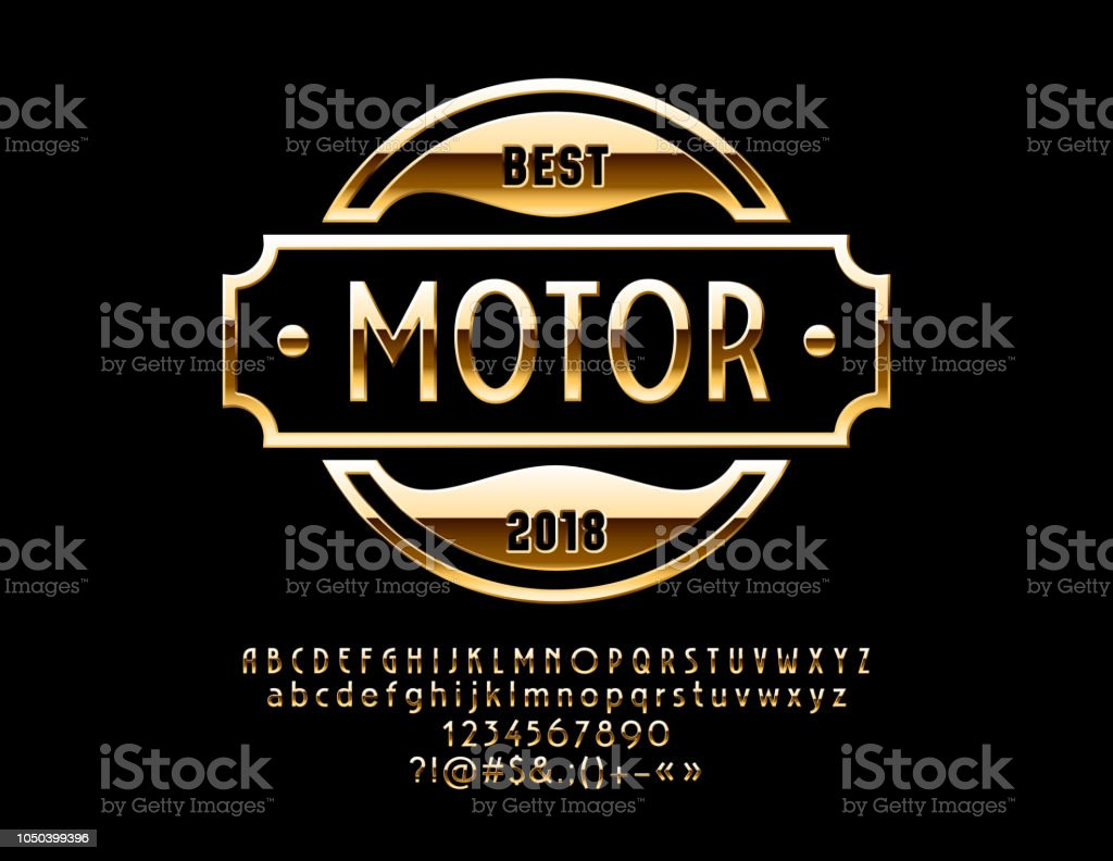 Vector Gold Logo Design For Luxury Car And Sportcar Shop With