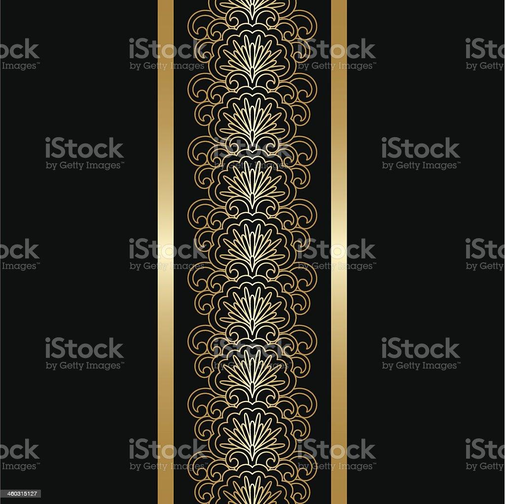 Vector gold ornament. royalty-free stock vector art