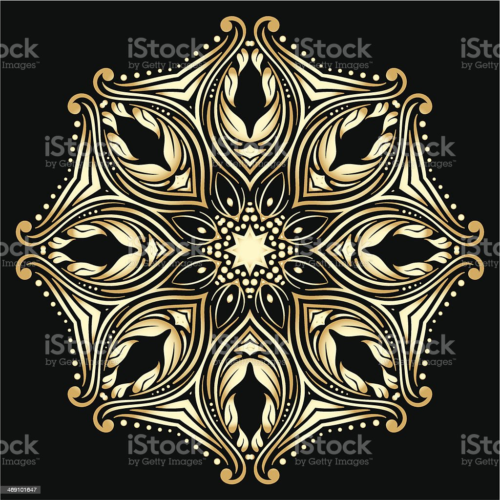 Vector gold ornament. royalty-free stock vector art