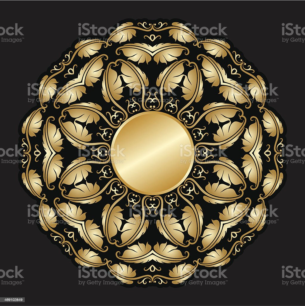 Vector gold ornament. royalty-free vector gold ornament stock vector art & more images of abstract