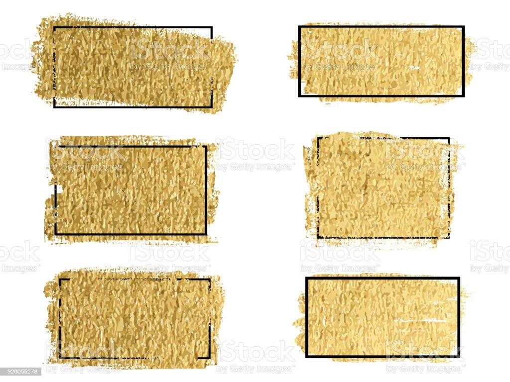 Vektorpinsel Gold Tintenstrich Bürste Pinsel Linie Oder Textur ...