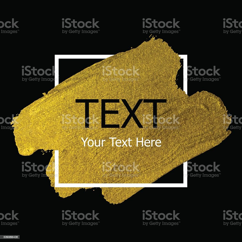 Vector gold paint stroke vector art illustration