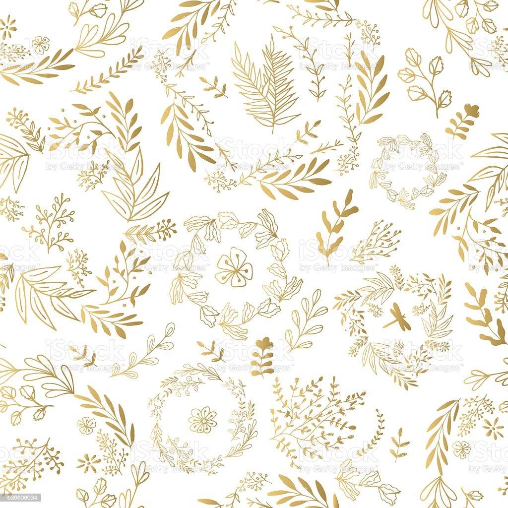 Vector gold seamless pattern – Vektorgrafik
