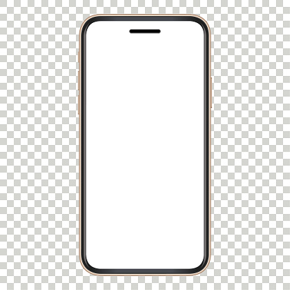 Vector Gold Smartphone Template